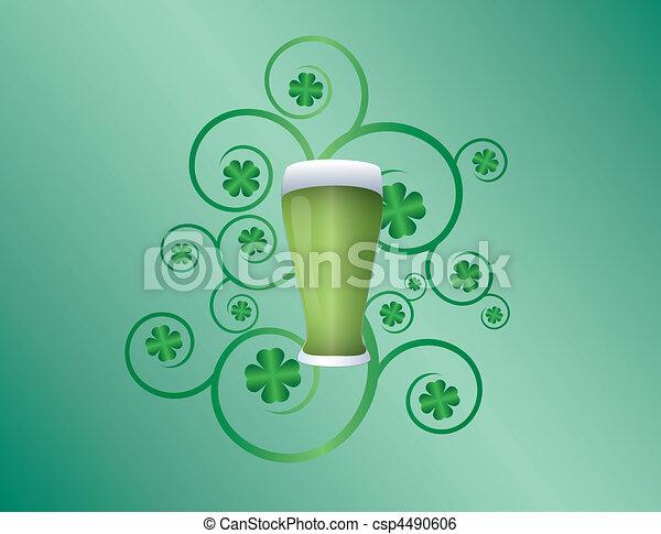St Patricks day pint - csp4490606