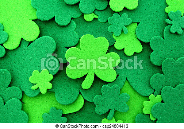 St Patricks Day shamrock background - csp24804413