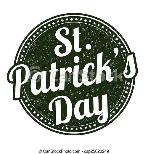St. Patrick's Day stamp - csp25620249