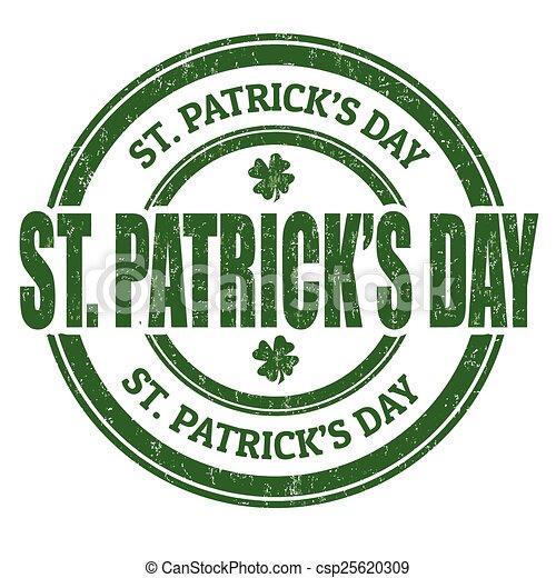 St. Patrick's Day stamp - csp25620309