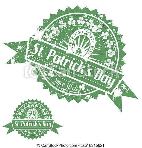 St. Patrick's Day Stamps - csp18315621