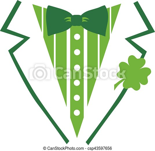St. Patrick's Day tuxedo for a Shirt - csp43597656
