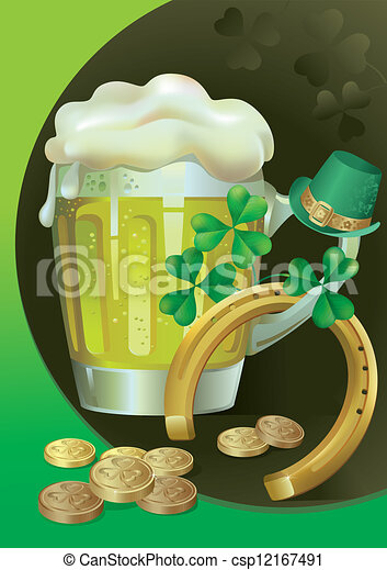 St. Patrick's day with Green Beer - csp12167491