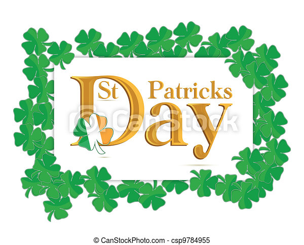 St. Patrick's Days design - csp9784955
