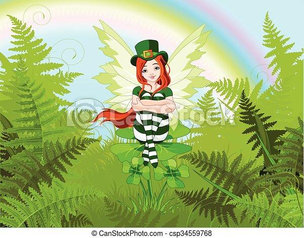 St. Patrick's Fairy - csp34559768