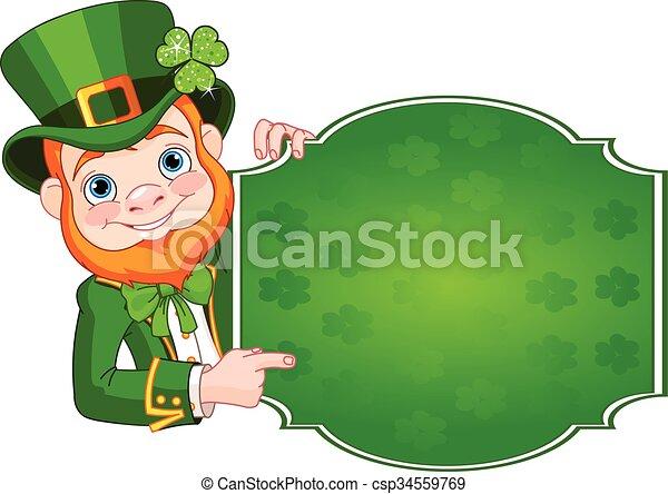 St. Patrick's Leprechaun - csp34559769