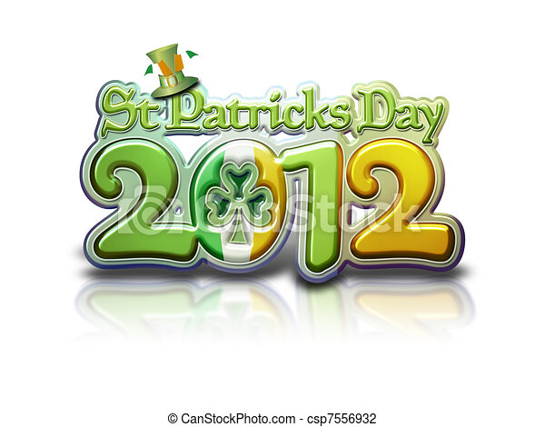 St Pats Graphic 2012 Lettering - csp7556932