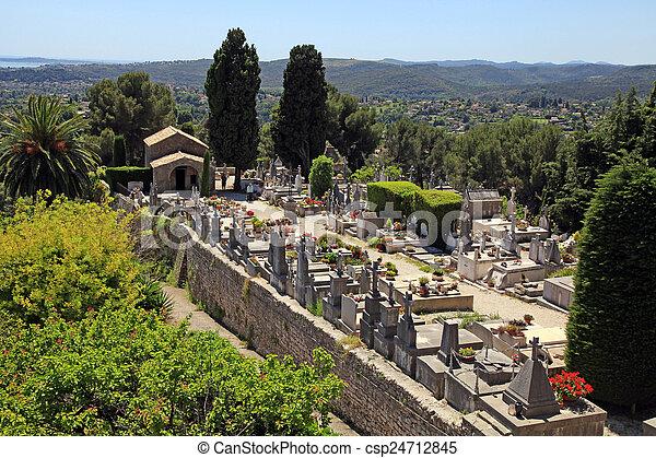 St. Paul de Vence cemetery, France - csp24712845
