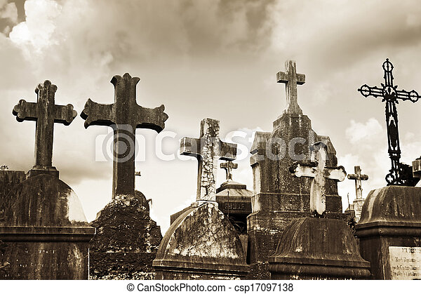 St. Paul de Vence cemetery, France - csp17097138