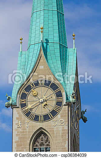 St. Peter cathedral in Zurich - csp36384039