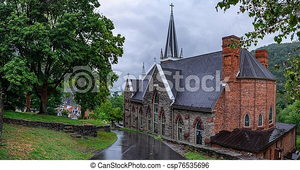 St. Peters Roman Catholic Church, In Harpers Ferry, West Virginia - csp76535696