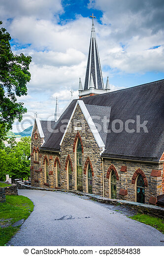 St. Peters Roman Catholic Church, in Harpers Ferry, West Virginia. - csp28584838