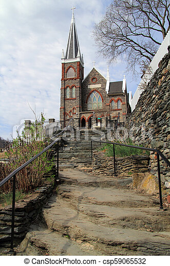 St Peters Roman Catholic Church in Harpers Ferry - csp59065532