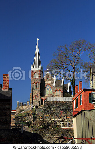 St Peters Roman Catholic Church in Harpers Ferry - csp59065533