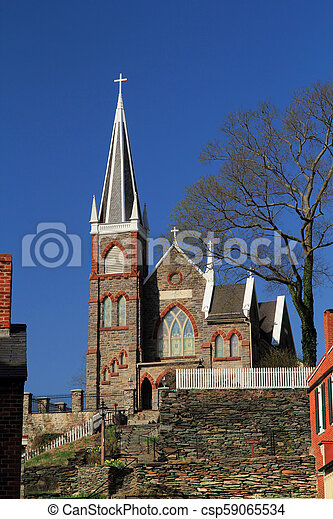 St Peters Roman Catholic Church in Harpers Ferry - csp59065534