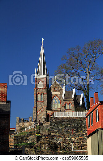 St Peters Roman Catholic Church in Harpers Ferry - csp59065535