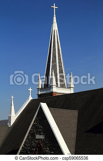 St Peters Roman Catholic Church in Harpers Ferry - csp59065536