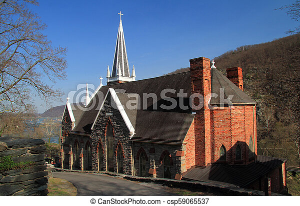 St Peters Roman Catholic Church in Harpers Ferry - csp59065537