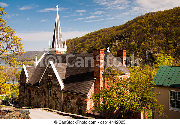 St. Peter's Roman Catholic Church, Harper's Ferry, West Virginia. - csp14442025