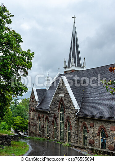 St. Peters Roman Catholic Church, Harpers Ferry, West Virginia - csp76535694
