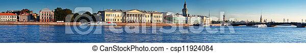 St. Petersburg. Vasilyevsky Island in summer day - csp11924084