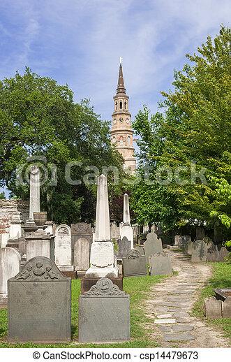 St Philip Church in Charleston - csp14479673