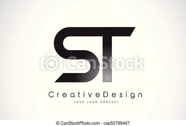 st s t letter logo design creative icon modern letters vector logo