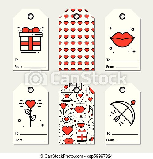 image about Valentines Gift Tags Printable identified as St Valentines working day present tags. Printable tags choice. Delight in, intimate, marriage ceremony concept. Holiday vacation label.
