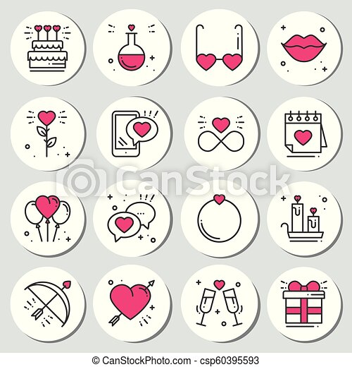 photograph relating to Printable Circle Stickers titled St Valentines working day spherical printable stickers fastened. Intimate labels badges. Attractive portion. Get pleasure from signs and symptoms and symbols. Get pleasure from, number of, connection,