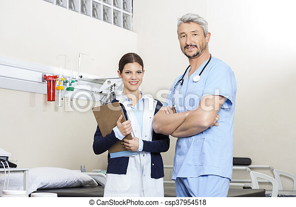 staand, rehab, zeker, centrum, physiotherapists - csp37954518