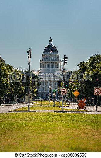 staat, californië, capitool - csp38839553