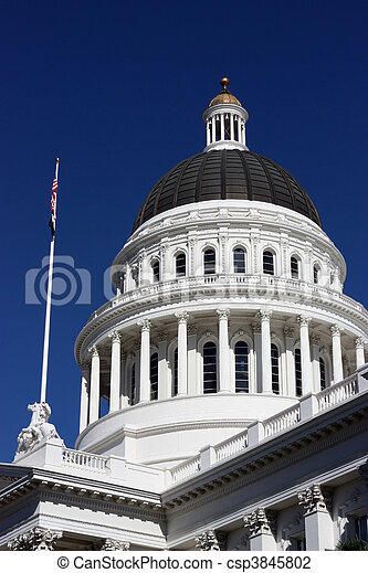 staat, californië, capitool - csp3845802
