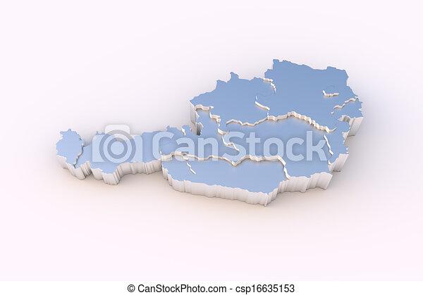 3d Karte Osterreich.Staaten Osterreichkarte Metall 3d