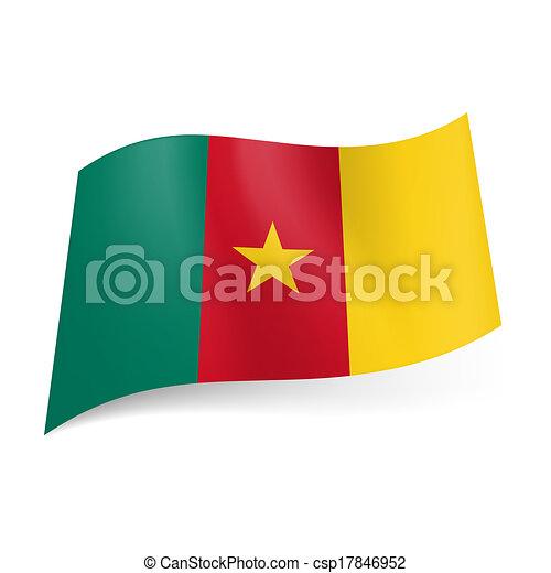 Rot gelbe streifen stern flagge Blaue Flagge
