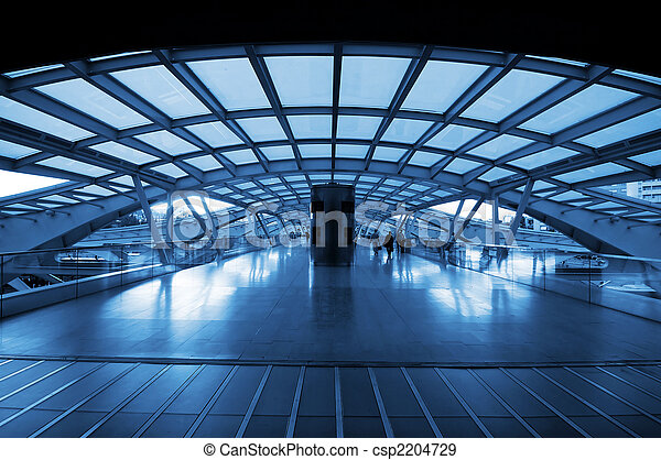 stacja, pociąg, nowoczesna architektura - csp2204729