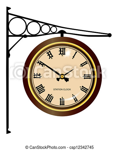 stacja, zegar - csp12342745