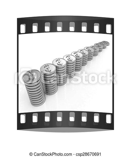 Stack Gold Dollar Streifen Muenze Film Gold Dollar