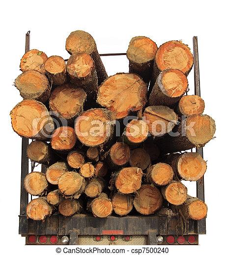 Stack Lumber Truck Wood - csp7500240