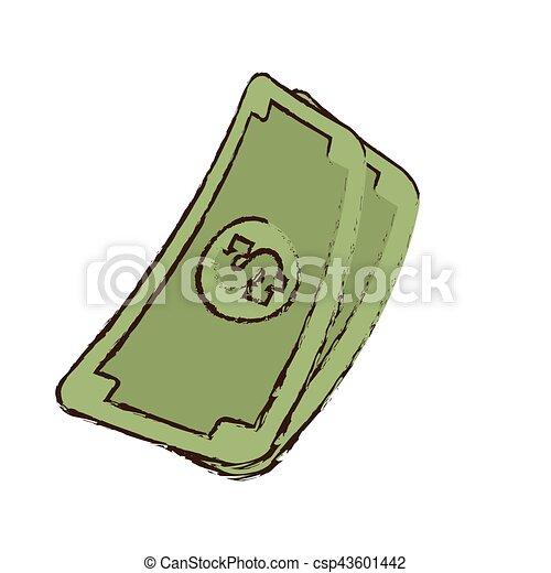 stack money dollar bills cash sketch vector illustration eps eps rh canstockphoto com