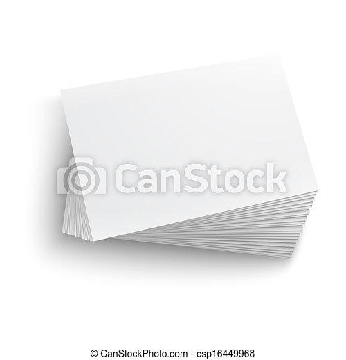 Stack of blank business card. - csp16449968