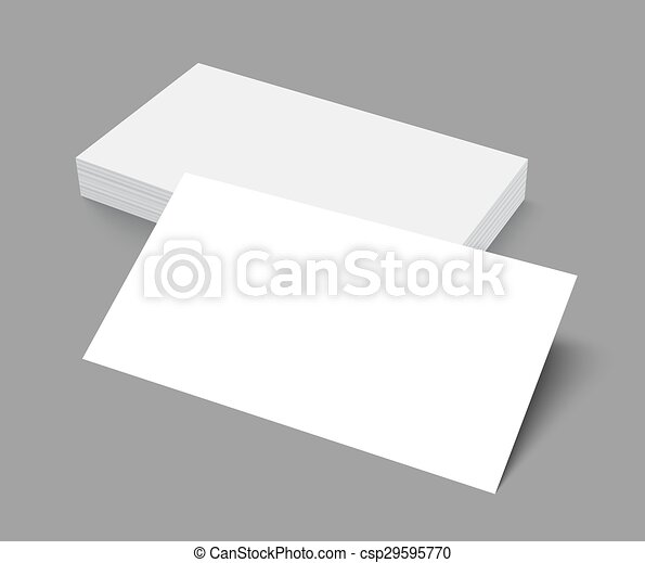 Stack of blank business card on gray background with shadows stack stack of blank business card on gray background with shadows csp29595770 reheart Gallery