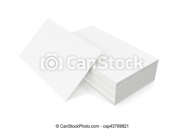 Stack of blank business card on white background 3d clip art stack of blank business card on white background 3d rendering csp43769821 colourmoves