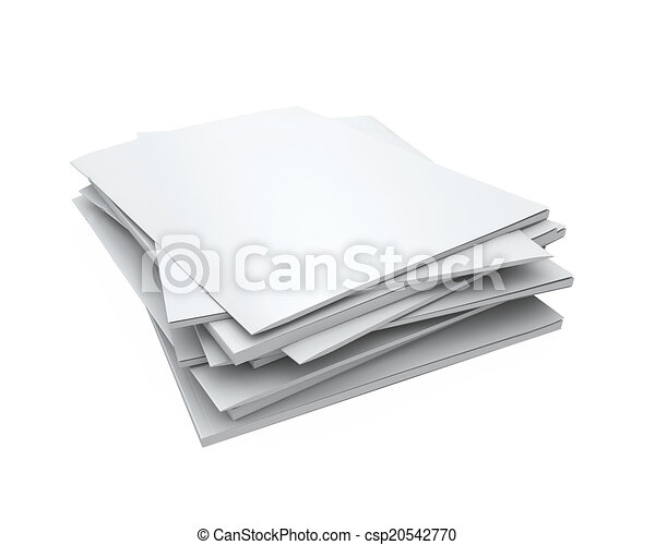 Stack of Blank Magazines - csp20542770