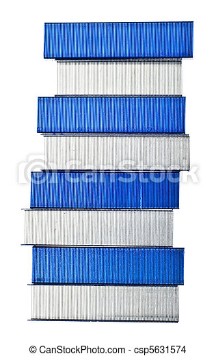 Stack of Blue Staples - csp5631574
