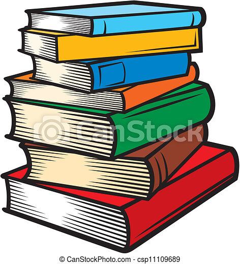 Stack of books (books stacked) - csp11109689