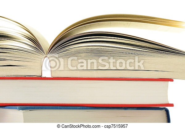 Stack of books isolated on white - csp7515957