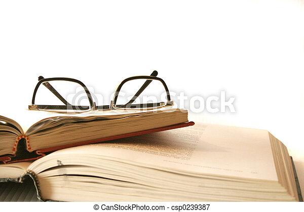 stack of books - csp0239387