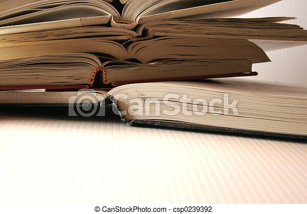 stack of books - csp0239392
