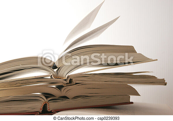 stack of books - csp0239393