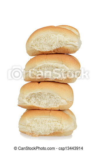 Stack of bread rolls - csp13443914